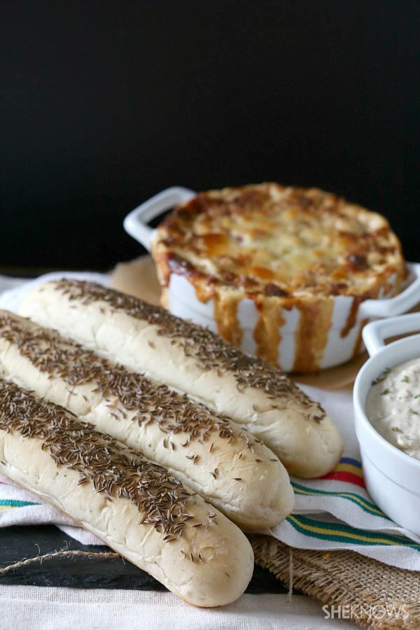Homemade rye breadsticks