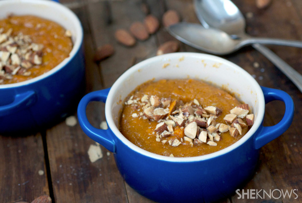 Sweet potato and toasted almond spoonbread
