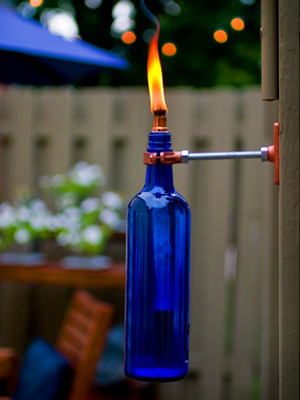 Recycled Wine Bottle Tiki Torch | Sheknows.com