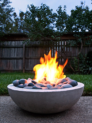 Concerete flower planter firepit | Sheknows.com