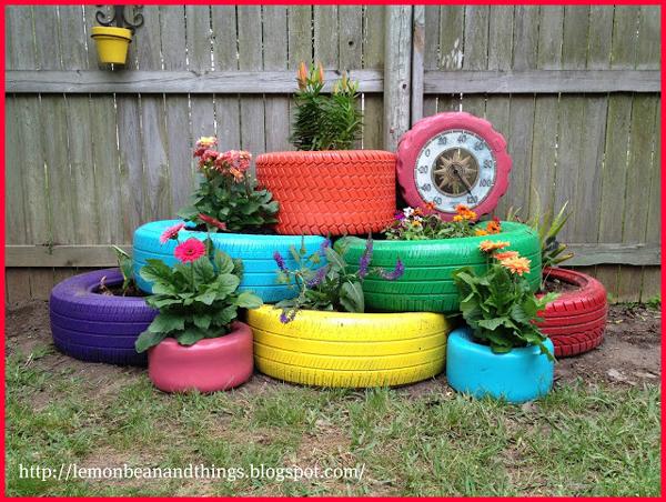 Tires flower pot planter | Sheknows.com