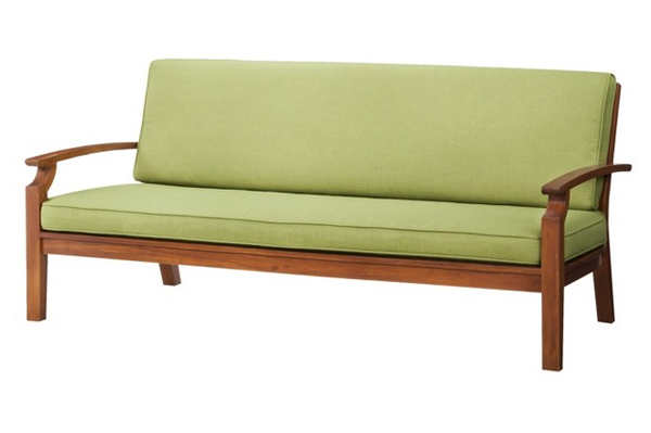 Posh: Brooks island wood patio sofa | Sheknows.com