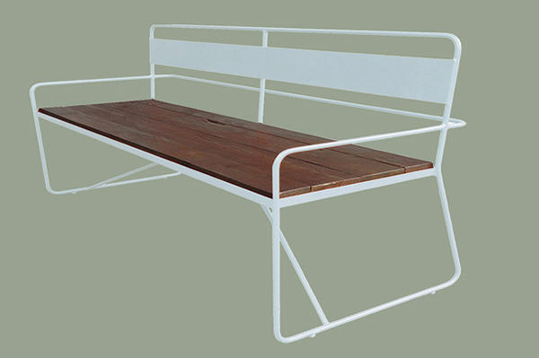 Contemporary: Steel and hardwood bench | Sheknows.com