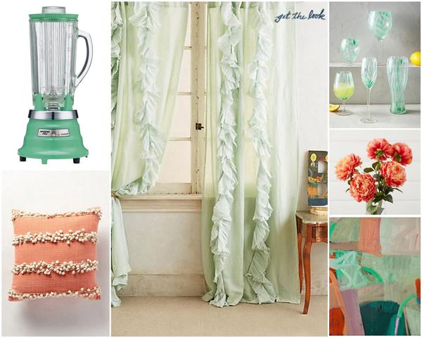 Mint and coral color scheme | Sheknows.com