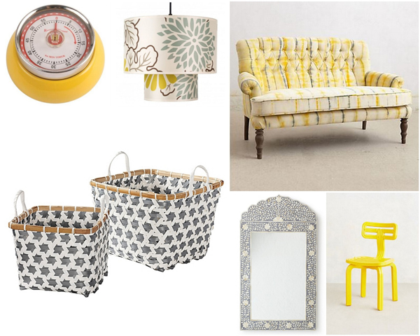 Yellow, grey and white color scheme | Sheknows.com