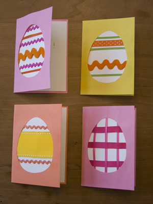 Ribbon Egg cards | Sheknows.com {focus_keyword} 12 Kid-friendly Easter egg crafts ribbon egg card
