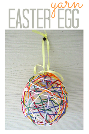 Yarn Easter egg | Sheknows.com {focus_keyword} 12 Kid-friendly Easter egg crafts yarn easter egg