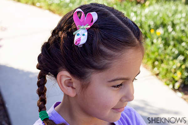 Ribbon bunny hair clip | Sheknows.com