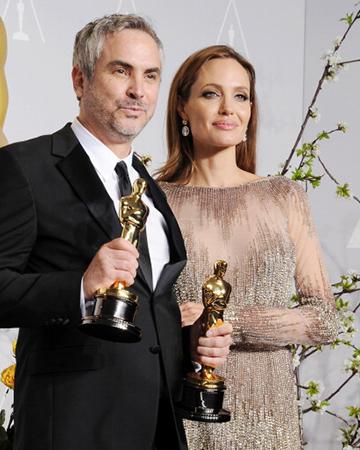 Alfonso Cuaron and Angelina Jolie | Sheknows.com