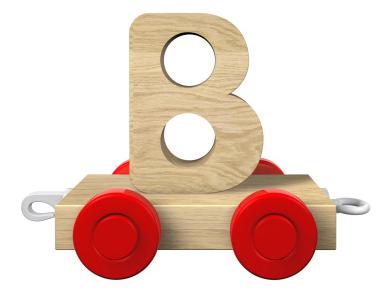 B letter on train   Sheknows.com
