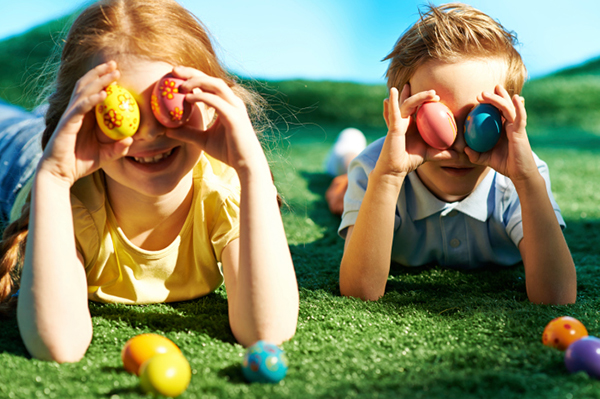 Children being silly with easter eggs | Sheknows.com