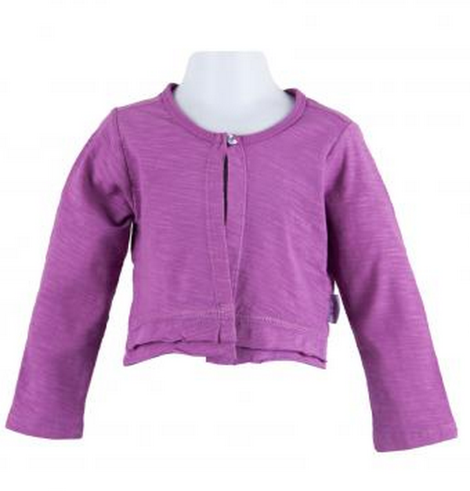 Radiant Orchid baby clothes:cardigan