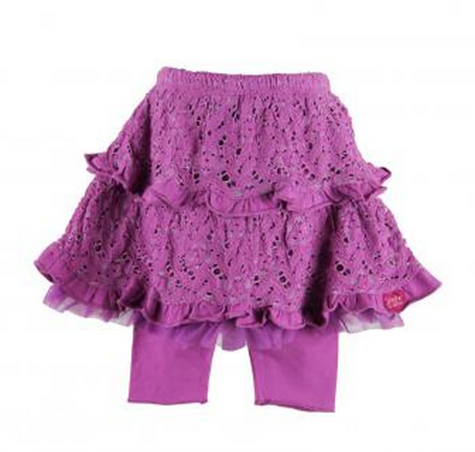 Radiant Orchid baby clothes:skirt and leggings