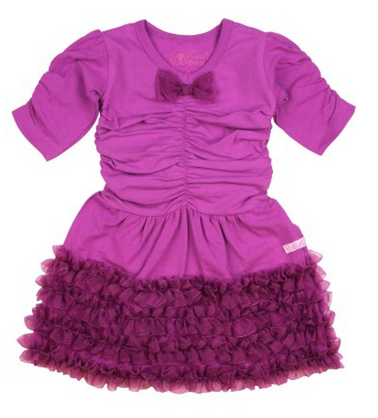 Radiant Orchid baby clothes:Party dress