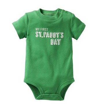 St. Patrick's Day baby outfits: Onesie