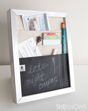 DIY Countertop message center