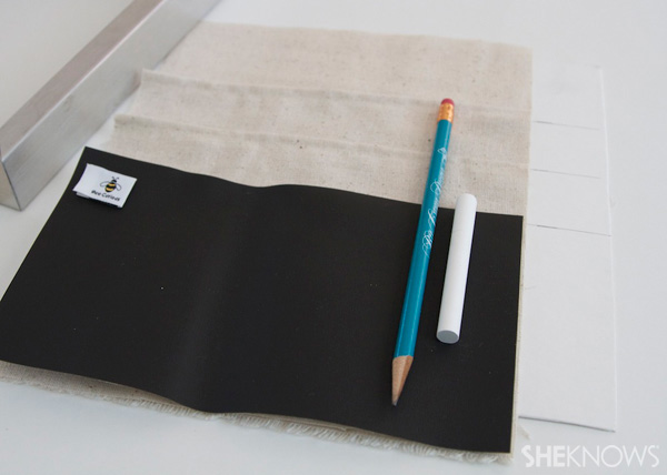 DIY Countertop message center Step 5: Sew pocket tops