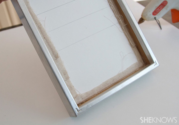 DIY Countertop message center Step 11: insert into frame
