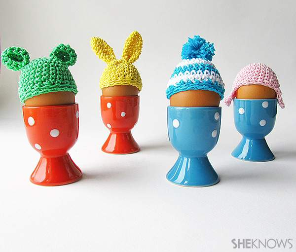 Crochet Easter egg hats