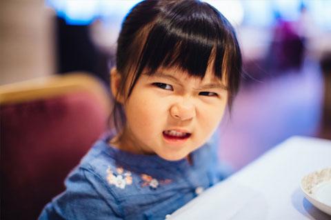 Child having temper tantrum