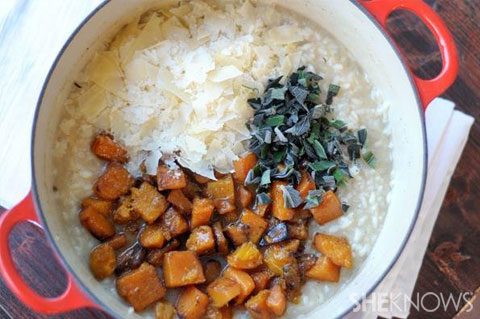 risotto with butternut squash and sage