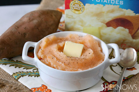 Sweet potato potato mash