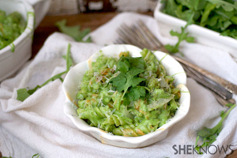 Super cheesy green shells