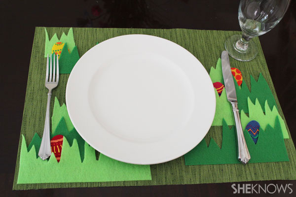 Easter egg placemat