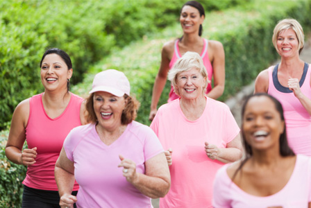 Mature women jogging