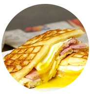 Ham, Egg and cheese waffle sandwiches | Sheknows.com