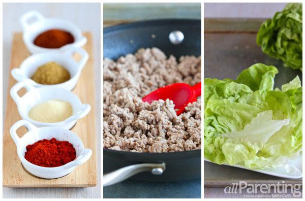 allParenting Taco lettuce wraps prep collage