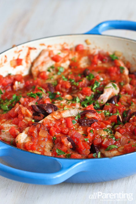 allParenting Braised pork chops with tomatoes and olives