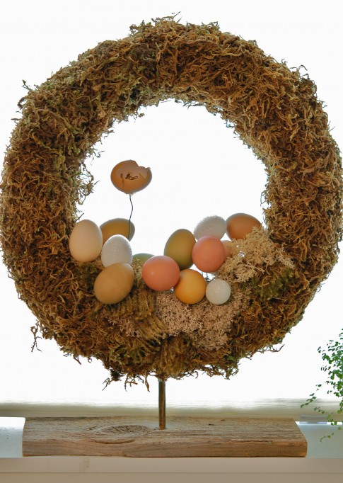Eggsactly Right Easter Wreath