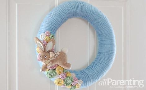 allParenting Pretty Easter Wreath