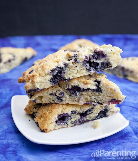 allParenting Blueberry scones with lemon glaze