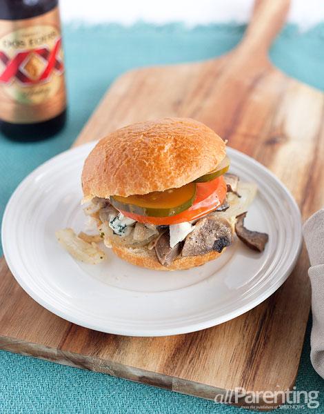 allParenting Portobello mushroom burgers