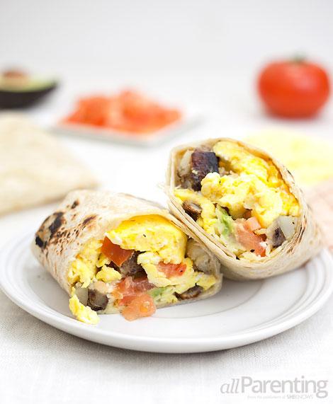 allParenting Breakfast burritos with crispy skillet potatoes