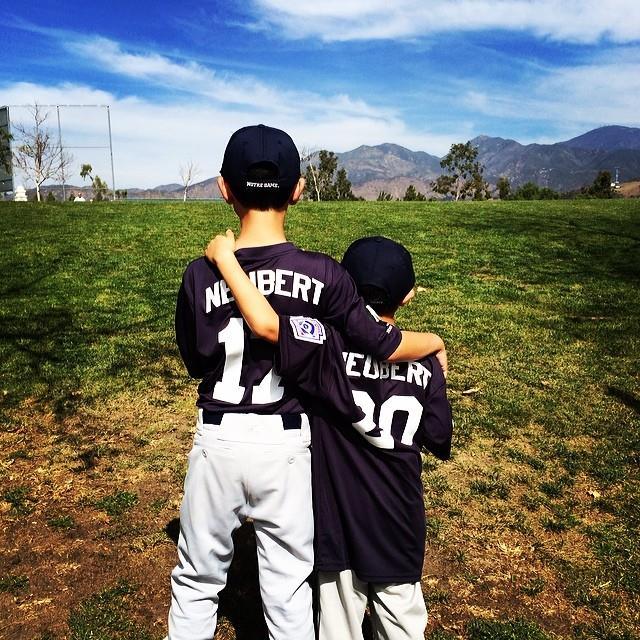 Cheryl Rosenberg's sons playing baseball