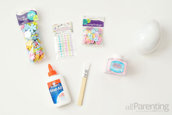 allParenting DIY Faberge Easter egg supplies