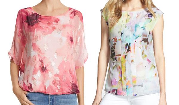 Floral print blouses