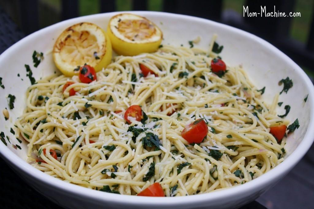Garlic Lemon Kale Pasta