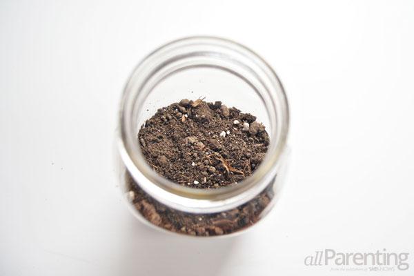 allParenting Mason jar terrarium step 2