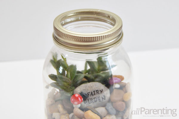 allParenting Mason jar terrarium step 5