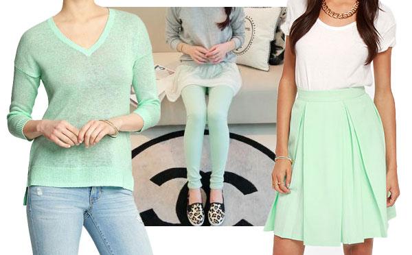 Pretty pastels- mint green