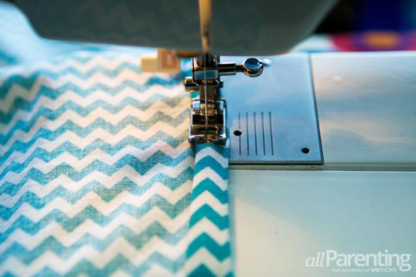 allParenting homemade pillowcase dress step 2