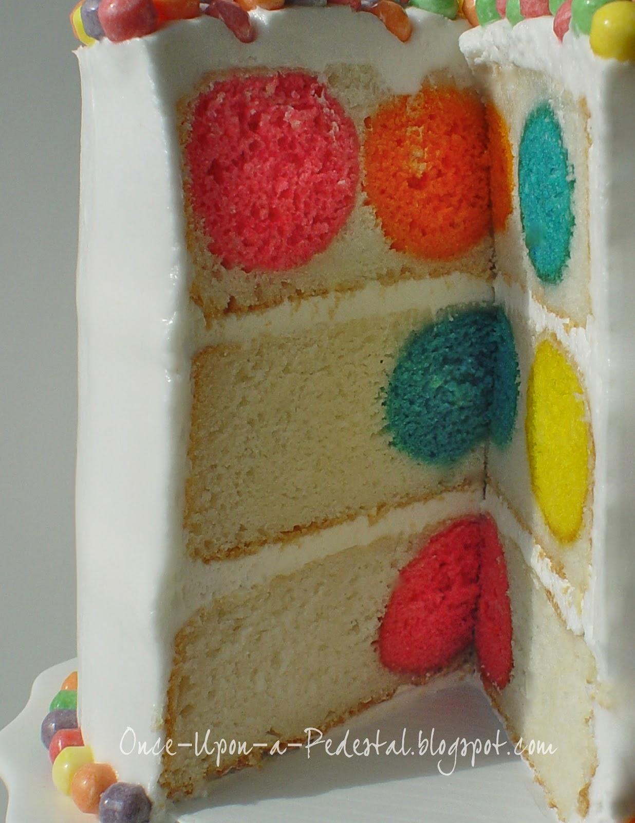 Pinterest cakes- Polka Dot Cake from Bake Pop Pan