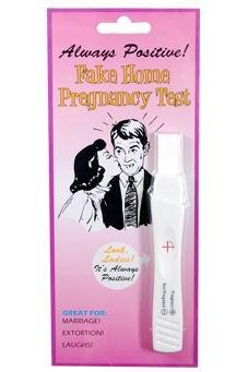 Fake positive pregnancy test- April Fool's