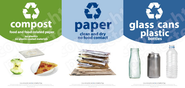 graphic about Recycle Labels Printable known as Trash And Recycling Labels: Arrange Your Recycling For