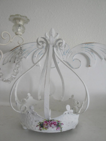 Etsy Shabby Chic Paris Apt. Metal Crown Candle Holder w/Fleur De Lis