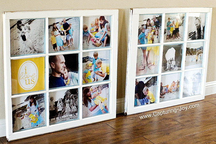 Upcycled Old window panel picture frame